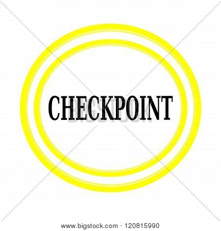 CHECKPOINT black stamp text on white backgroud