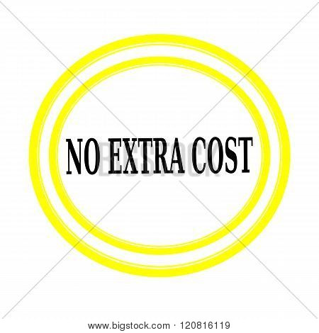 NO EXTRA COST black stamp text on white backgroud