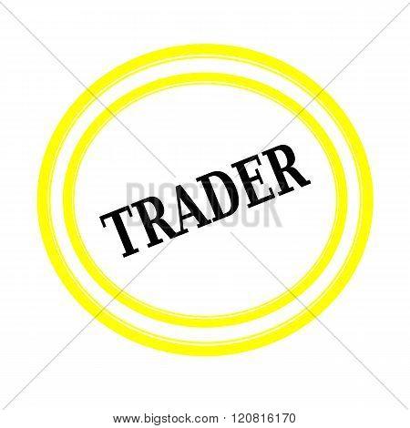 TRADER black stamp text on white backgroud
