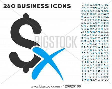 Reject Money Icon with Flat Vector Set