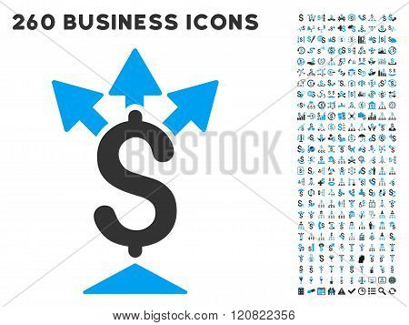 Split Payment Icon with Flat Vector Set