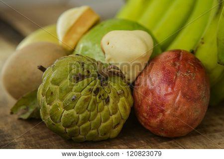 Guava Sweet-sop Sapodilla Mango Marakuya By Banana