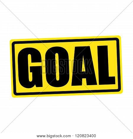 an images of GOAL black stamp text on yellow