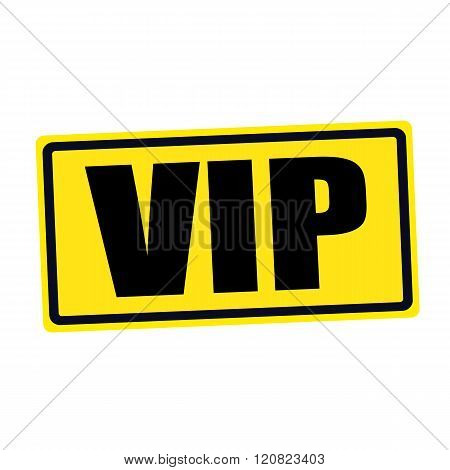 an images of VIP black stamp text on yellow