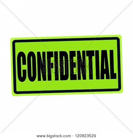 an images of CONFIDENTIAL black stamp text on green