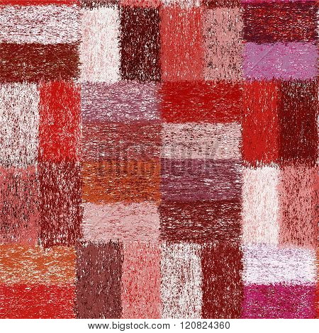 Seamless Pattern With Weave Grunge Striped Colorful Rectangular Elements For Plaid,carpet,cloth