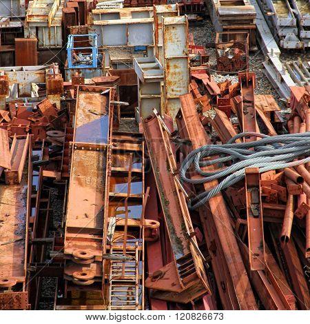 Scrapyard of building material