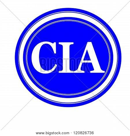 an images of Cia white stamp text on blue
