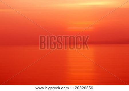 Abstract Background Motion Blur Sunset On The Sea