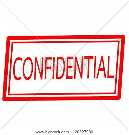 an images of Confidential red stamp text on white