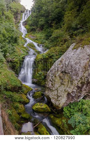 Waterfall Saut In Valle Pesio