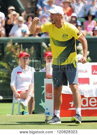 Australian Davis Cup Team Captain Llayton Hewitt During Davis C