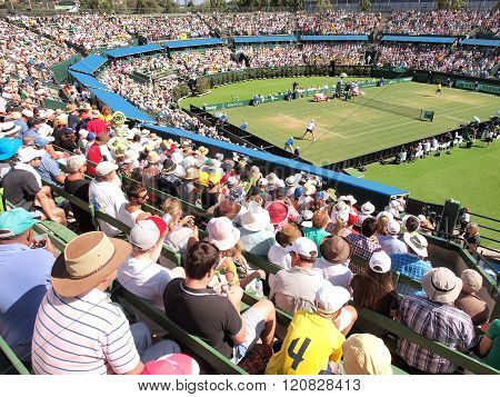 The Davis Cup Australia versus USA at Kooyong