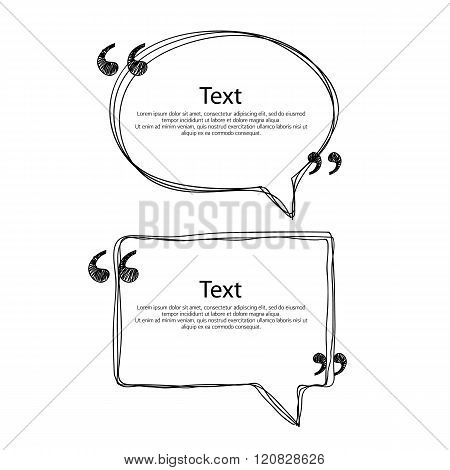 Quote bubble frame templates set illustration.