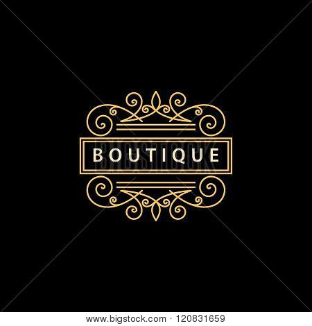 Monogram Design Elements, Graceful Template. Elegant Line Art Logo Design. Business Sign, Identity F