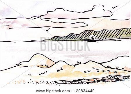 Coast Of Black Sea.