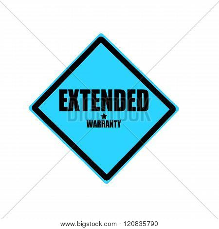 Extended Warranty Black Stamp Text On Blue Background
