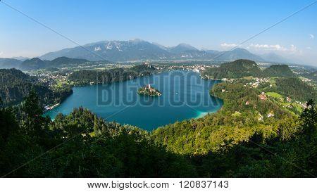 Bled Lake panorama