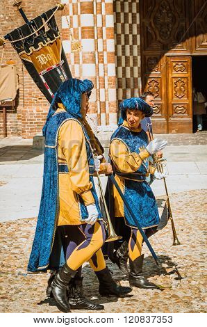 Medieval Parade In Asti