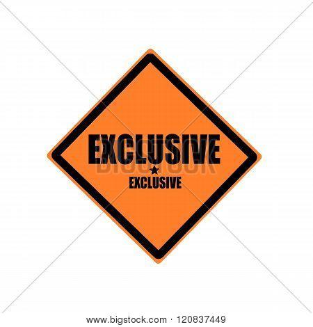 Exclusive Black Stamp Text On Orange Background