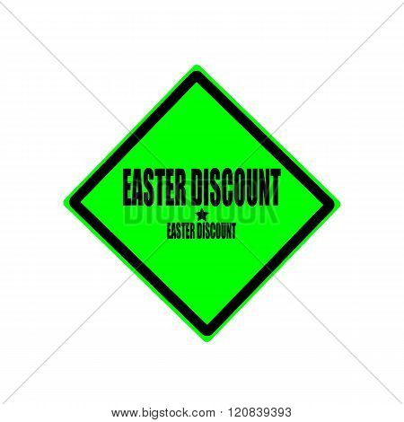 Easter Discount Black Stamp Text On Green Background