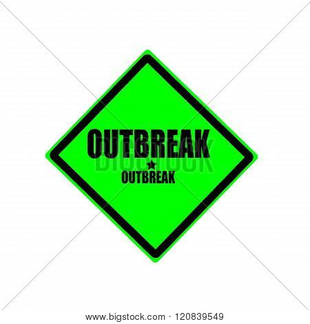 Outbreak Black Stamp Text On Green Background