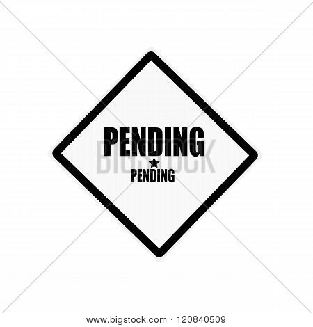 Pending Black Stamp Text On White Background