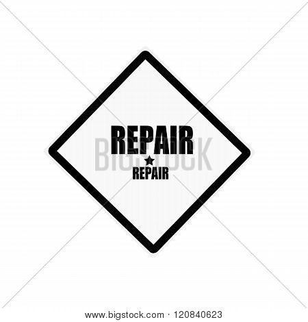 Repair Black Stamp Text On White Background
