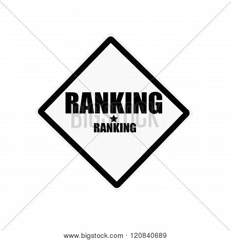 Ranking Black Stamp Text On White Background