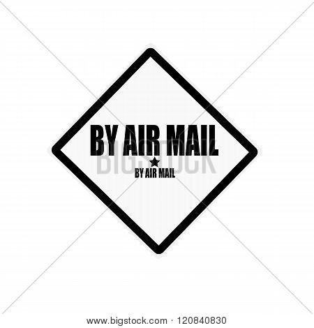 By Air Mail Black Stamp Text On White Background