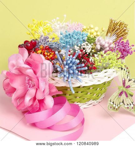 Making artificial bouquet