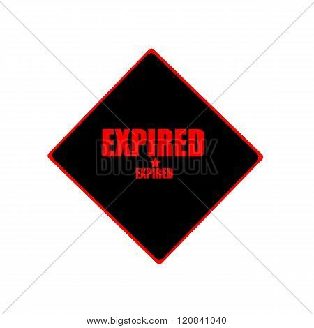 Expired Red Stamp Text On Black Background