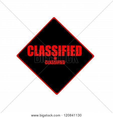 Classified Red Stamp Text On Black Background