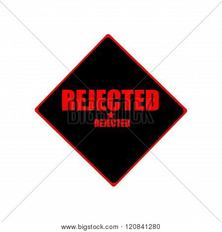 Rejected Red Stamp Text On Black Background