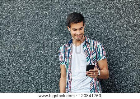 Handsome Man Enjoying In Music