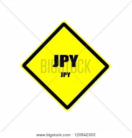 Jpy Black Stamp Text On Yellow Background