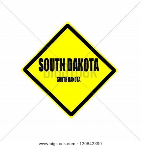 South Dakota Black Stamp Text On Yellow Background