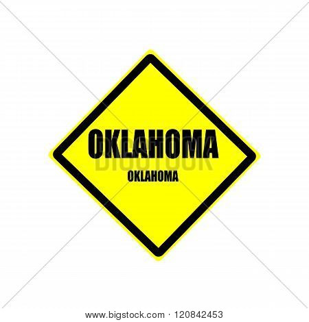 Oklahoma Black Stamp Text On Yellow Background