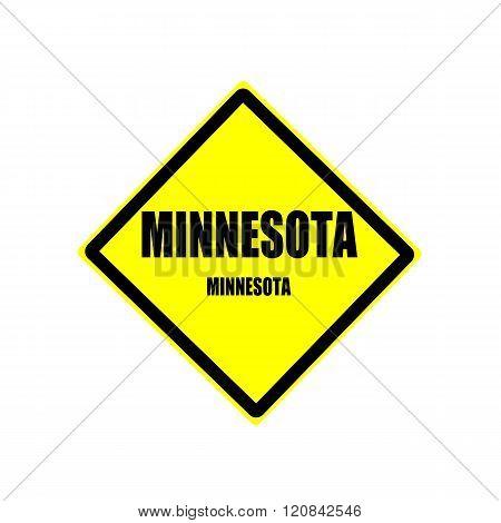 Minnesota Black Stamp Text On Yellow Background