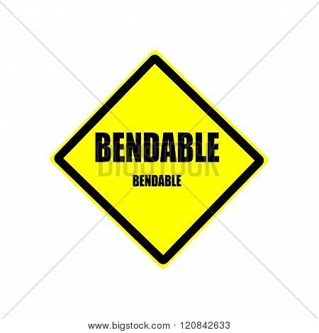 Bendable Black Stamp Text On Yellow Background
