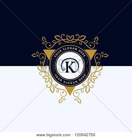 Monogram Design Elements Graceful Template. Calligraphic Elegant Line Art Logo Design. Letter Emblem