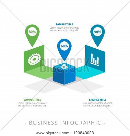 Cube Diagram Infographic Template