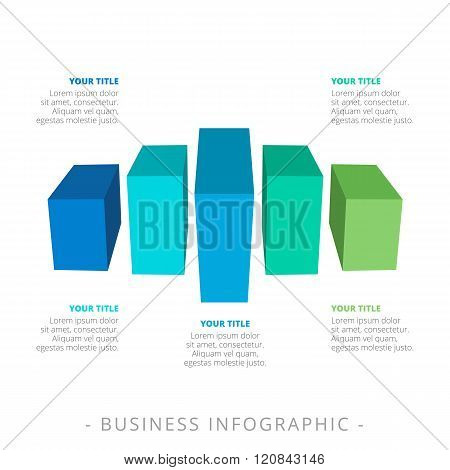 Five Bar Chart Template