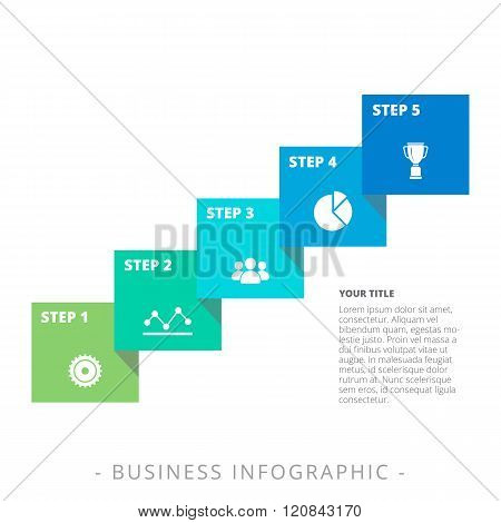 Five Step Diagram Template