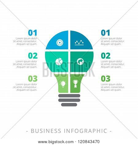 Light Bulb Infographic Chart Template