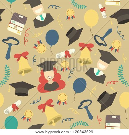 Graduation Elements Seamless Pattern Background