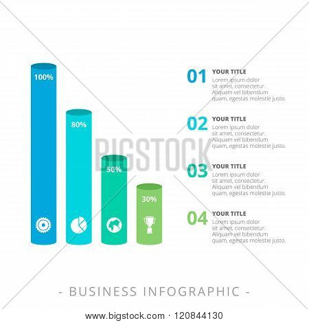 Vertical Cylinder Bar Chart Template