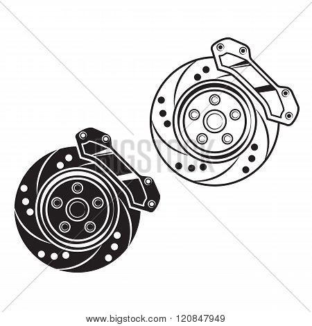 Vector Car Brake