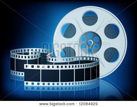 Gedrehten Film für Film. Vektor-Illustration.
