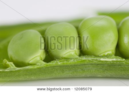 Very close image of fresh pea
